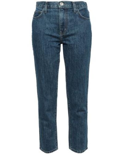 Cropped High-rise Slim-leg Jeans Dark Denim  5