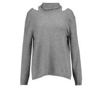 Cutout Wool And Cashmere-blend Sweater Grau