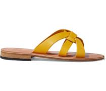 Hepatica Textured-leather Sandals