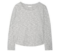 Cotton-blend mouliné pajama top