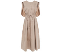 Gathered Cotton-poplin Midi Dress