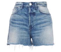 Carter Frayed Faded Denim Shorts