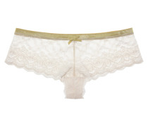 Cloud Swing Mid-rise Stretch-lace Briefs Weiß