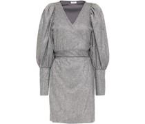 Frankie Gathered Lamé Mini Wrap Dress