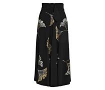 Simiana Belted Sequin-embellished Crepe Midi Skirt
