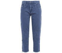 The Debbie Cropped Cotton-twill Slim-leg Pants