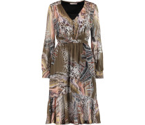Printed Silk-chiffon Dress Mehrfarbig