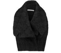 Dree Bouclé Wool-blend Top Schwarz