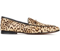 Loraine Leopard-print Calf Hair Loafers
