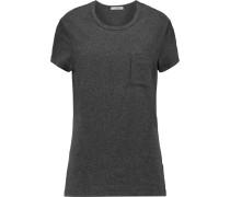 Cotton-blend Jersey T-shirt Schiefer