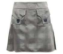 Checked Satin-jacquard Mini Skirt