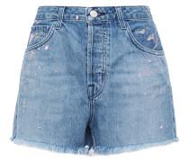 Gracie Frayed Painted Denim Shorts