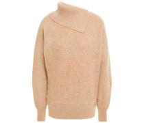 Gerippter Pullover aus Einer Gebürsteten Mohairmischung