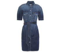 The Flint Belted Denim Mini Shirt Dress