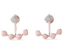 18-karat Rose Vermeil Diamond Earrings