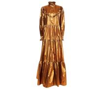Robe aus Lamé mit Rüschen und Raffung