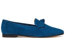 Knotted Suede Loafers