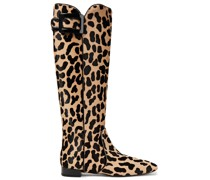 Botte Polly Leopard-print Calf Hair Knee Boots