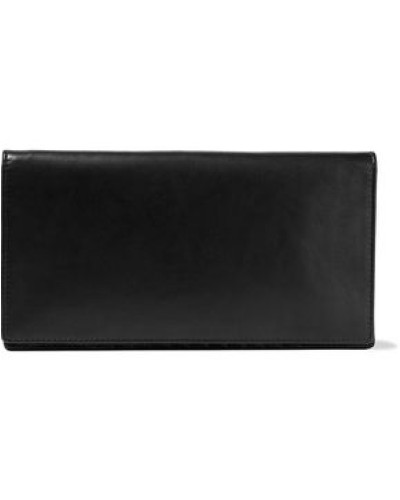 Leather Wallet Black Size --