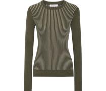 Shane Ribbed Cotton-blend Sweater Armeegrün