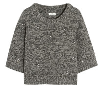 Embellished Wool-blend Sweater Anthrazit