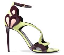 Petal Leather Sandals Gelb