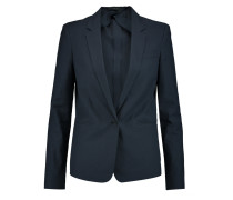 Will Cotton-blend Piqué Blazer Mitternachtsblau