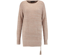 Sonia Ribbed-knit Silk And Cotton-blend Sweater Braun