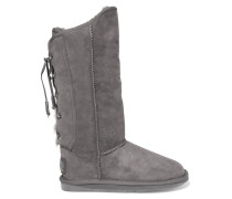 Dita Tall Lace-up Shearling Knee Boots Grau
