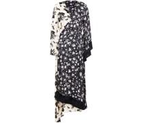 Sylvie Asymmetrisch Midi-wickelkleid aus Gehämmertem Satin mit Print