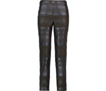 Jacquard straight-leg pants