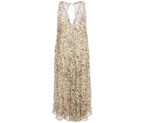 Sky Leopard-print Silk-chiffon Dress
