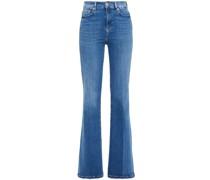Lisha Embroidered High-rise Bootcut Jeans