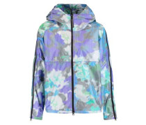 Hooded printed shell jacket