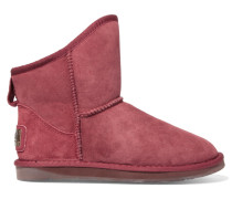 Cosy Short Shearling Ankle Boots Ziegelrot