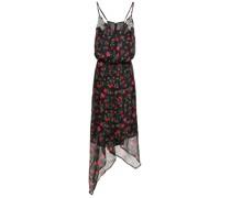 Valentina Asymmetrisches Kleid aus Chiffon mit Verzierung