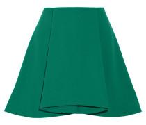 Walt Pleated Stretch-crepe Mini Skirt Jade