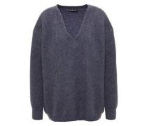 Gerippter Pullover aus Einer Kaschmir-seidenmischung