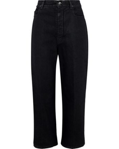 Cropped High-rise Straight-leg Jeans Charcoal  5