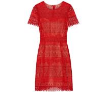 Guipure Lace Mini Dress Rot