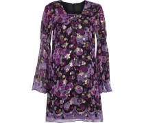 Metallic Printed Silk-blend Fil Coupé Mini Dress