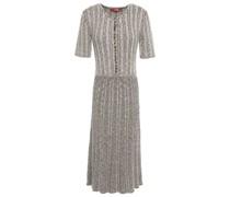 Marled Ribbed Cotton-blend Dress