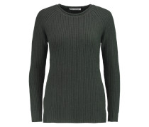 Ribbed-knit Cashmere Sweater Tannengrün