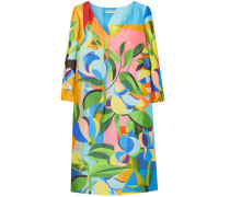 Woman Shea Printed Satin-faille Mini Dress Multicolor