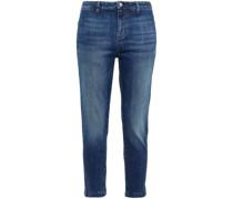Tel Aviv Halbhohe Jeans mit Schmalem Bein