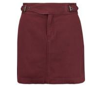 Buckled cotton mini skirt