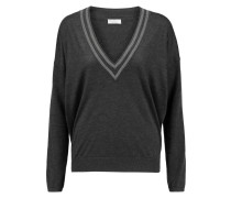 Bead-embellished Cashmere Sweater Schiefer