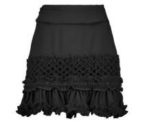 Ruffled crepe mini skirt