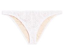 Boho Beautiful Coco Low-rise Crocheted Bikini Briefs Weiß