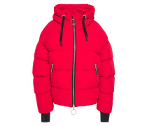 Dunno Quilted Foiled Shell Hooded Down Jacket